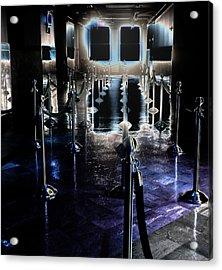 Eerie Waiting Area Acrylic Print by Catherine Morgan
