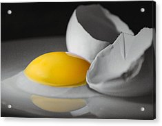 Egg And Black And White Acrylic Print