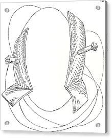 Egg Drawing 030005 Acrylic Print