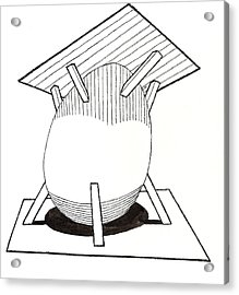 Egg Drawing 030037 Acrylic Print