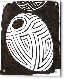 Egg Drawing 039917 Acrylic Print