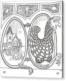 Egg Drawing 049603 Acrylic Print