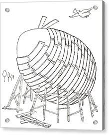Egg Drawing 049901 Acrylic Print