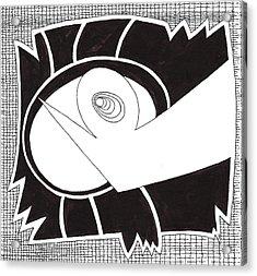 Egg Drawing 079725 Acrylic Print