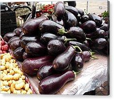 Eggplants And Fingerling Potatoes Acrylic Print by David Bearden