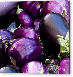 Acrylic Print featuring the photograph Eggplants by Michael Friedman