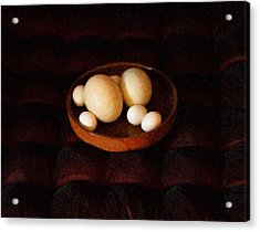 Acrylic Print featuring the mixed media Eggs by YoMamaBird Rhonda