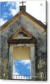 Eglise - Ile De La Reunion Acrylic Print by Francoise Leandre