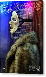Ego Mask In Winter Wrappings Acrylic Print