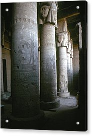 Egypt: Temple Of Hathor Acrylic Print by Granger