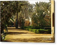 Egyptian Courtyard In The Late Afternoon Acrylic Print by Mary Machare