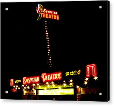 Egyptian Theatre In Coos Bay Oregon Acrylic Print by Gary Rifkin