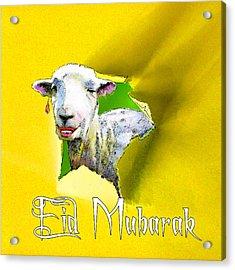 Eid Mubarak Acrylic Print by Miki De Goodaboom
