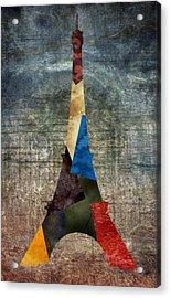 Eiffel Grunge 2 Acrylic Print