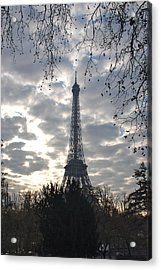 Acrylic Print featuring the photograph Eiffel In The Morning by Eric Tressler
