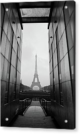 Eiffel Tower And Wall For Peace Acrylic Print