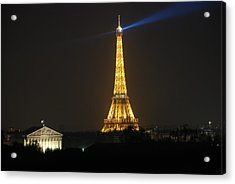 Acrylic Print featuring the photograph Eiffel Tower At Night by Jennifer Ancker