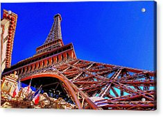 Eiffel Tower At Paris Las Vegas Acrylic Print