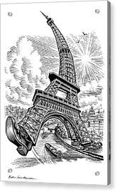 Eiffel Tower, Conceptual Artwork Acrylic Print by Bill Sanderson