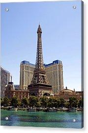 Eiffel Tower Las Vegas Acrylic Print by James Granberry