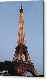Eiffel Tower Lights Acrylic Print by Debra     Vatalaro