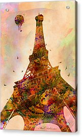 Eiffel Tower  Acrylic Print by Mark Ashkenazi