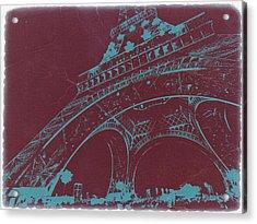 Eiffel Tower Acrylic Print by Naxart Studio