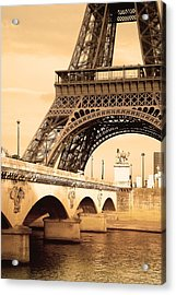 Eiffel Tower, Paris, France Acrylic Print by Carson Ganci