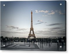 Eiffel Tower Paris Acrylic Print by Melanie Viola