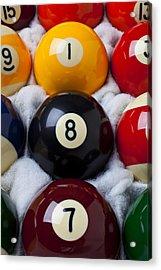 Eight Ball Acrylic Print by Garry Gay