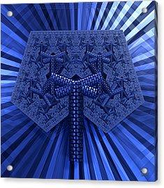 Acrylic Print featuring the digital art El Azul Del Mar by Manny Lorenzo