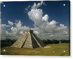 El Castillo Or The Temple Of Kukulcan Acrylic Print by Martin Gray
