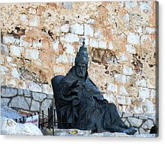 El Cid The Movie Remembered At Peniscola Castle Acrylic Print by John Shiron