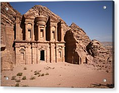 El Deir, The Monastery, Petra, Jordan Acrylic Print by Joe & Clair Carnegie / Libyan Soup