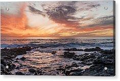 El Golfo, Sunset, Lanzarote, Acrylic Print by Travelstock44 - Juergen Held