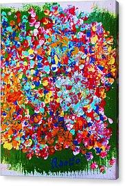 ..el Jardin De Gabo... Acrylic Print by Adolfo hector Penas alvarado