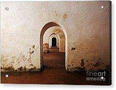 El Morro Fort Barracks Arched Doorways San Juan Puerto Rico Prints Acrylic Print by Shawn O'Brien