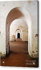 El Morro Fort Barracks Arched Doorways Vertical San Juan Puerto Rico Prints Acrylic Print by Shawn O'Brien