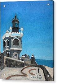 El Morro Fort In Old San Juan Puerto Rico Acrylic Print by Dana Schmidt