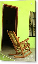 El Quelite Rocking Chair Mexico Acrylic Print by John  Mitchell