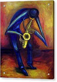 El Saxofonista Acrylic Print
