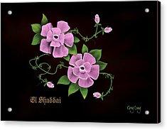 El Shaddai         The Almighty Acrylic Print by Greg Long