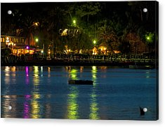 Acrylic Print featuring the photograph Elba Island - Night Sea Reflections - Ph Enrico Pelos by Enrico Pelos
