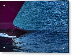 Acrylic Print featuring the photograph Elba Island - Purple Wave - Ph Enrico Pelos by Enrico Pelos