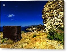 Elba Island - Rusty Iron Cube Landscape - Ph Enrico Pelos Acrylic Print