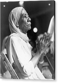 Elderly African American Woman Acrylic Print