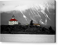 Eldred Rock Alaska Acrylic Print by Carrie OBrien Sibley