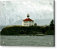 Acrylic Print featuring the photograph Eldred Rock Lighthouse by Myrna Bradshaw