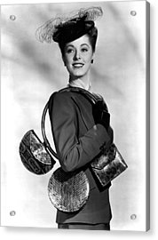 Eleanor Parker Carrying 3 Small Acrylic Print by Everett