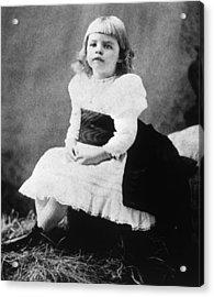 Eleanor Roosevelt 1884-1962, Ca. 1889 Acrylic Print by Everett